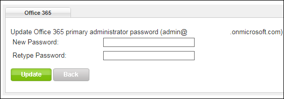 Resetting the Office 365 admin password - Winhost