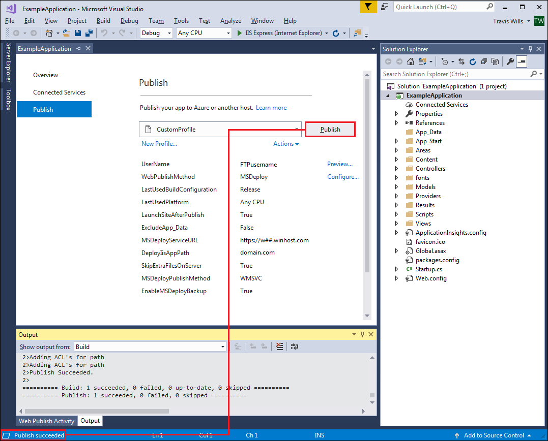 Visual Studio Publish / Web Deploy - Winhost