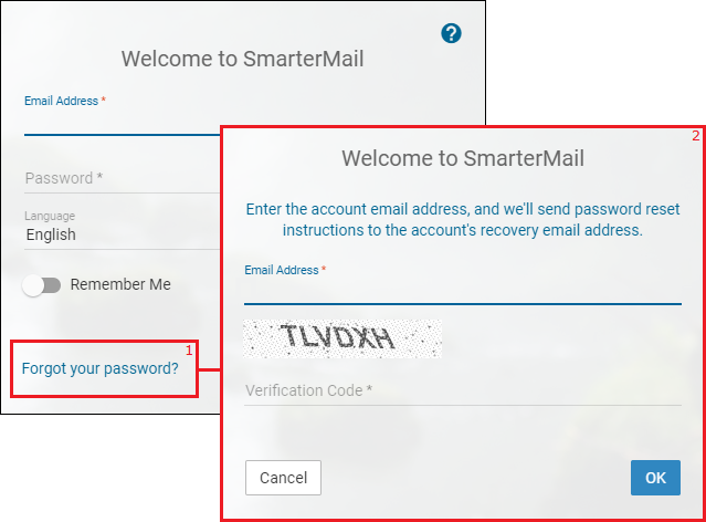 Reset email password through SmarterMail - Winhost