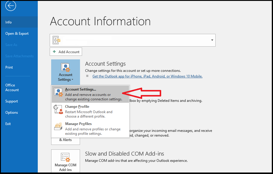 How to configure your POP3 account on Outlook to delete mail off the
